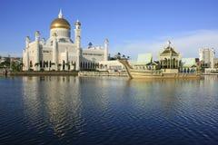 Sultan Omar Ali Saifudding Mosque, Brunei stock afbeelding