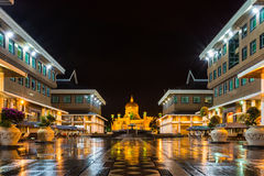 Sultan Omar Ali Saifudding. Mosque at night, Bandar Seri Begawan, Brunei, Southeast Asia Stock Photography