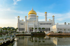 Sultan Omar-Moschee, Brunei lizenzfreie stockfotografie