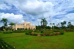 Sultan Palace, Siak, Indonesia immagini stock libere da diritti