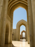 Sultan Qaboos Grand Mosque, Exterior. Fantastic Sultan Qaboos Grand Mosque, MUSCAT – OMAN Main Entrance Exterior, Summer, Daylight royalty free stock image