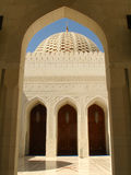 Sultan Qaboos Grand Mosque, Exterior,Dome. Fantastic Sultan Qaboos Grand Mosque, MUSCAT – OMAN Exterior, Summer, Daylight stock photo