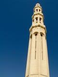 Sultan Qaboos Grand Mosque, Exterior,Minaret. Fantastic Sultan Qaboos Grand Mosque, MUSCAT – OMAN Exterior, Summer, Daylight stock photo