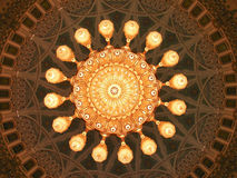 Sultan Qaboos Grand Mosque, Interior, Dome Stock Photography