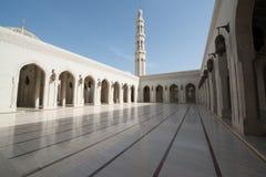 Sultan Qaboos Grand Mosque. Interior of the Sultan Qaboos Grand Mosque in Muscat, Oman stock photo