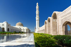 Sultan Qaboos Grand Mosque. The largest mosque in Sultanate of Oman, located in the capital city - Muscat Royalty Free Stock Photography