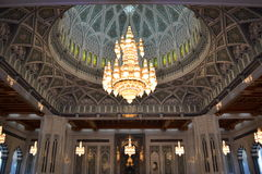 Sultan Qaboos Grand Mosque, Muscat. The interior of the Sultan Qaboos Grand Mosque is just as stunning as the exterior Royalty Free Stock Image
