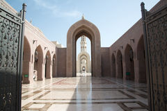 Sultan Qaboos Grand Mosque. In Muscat, Oman stock photography