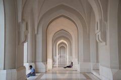 Sultan Qaboos Grand Mosque in Muscat. MUSCAT, OMAN CIRCA JUNE 2014: Interior of the Sultan Qaboos Grand Mosque in Muscat, Oman royalty free stock image