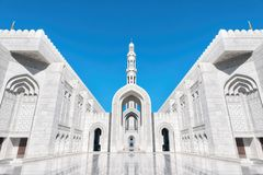 Sultan Qaboos Grand Mosque, Muscat, Oman. Taken in 2015 stock image