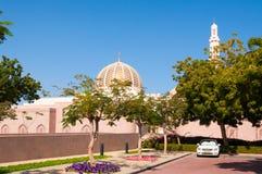 Sultan Qaboos Grand Mosque, Muscateldruif, Oman Stock Foto's