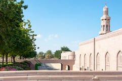 Sultan Qaboos Grand Mosque, Muscateldruif, Oman Stock Afbeeldingen