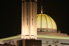 Sultan Qaboos mosk in Oman. Sultan Qaboos mosk in Muscat, Oman at night Royalty Free Stock Image