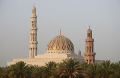 Sultan Qaboos mosk in Oman stock photo