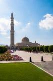 Sultan Qaboos Mosque, Muscateldruif, Oman Royalty-vrije Stock Fotografie