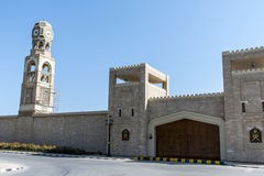 Sultan Qabus said fort fortress clock tower entrance Oman salalah Stock Images