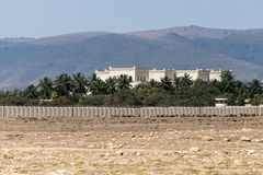 Sultan Qabus said fort fortress tower Oman salalah Stock Photo