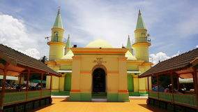 Sultan Riau Mosque, Penyengat Island. Walls painted with egg Stock Photography