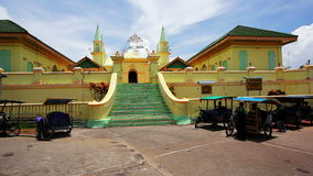 Sultan Riau Mosque, Penyengat Island. Walls painted with eggs Stock Photos