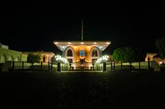 Sultan's palace at night. Sultan's palace in Muscat, Oman at night Royalty Free Stock Photos