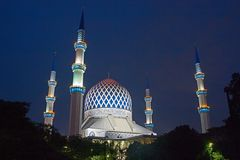 The Sultan Salahuddin Abdul Aziz Shah Mosque Stock Photography