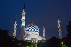 The Sultan Salahuddin Abdul Aziz Shah Mosque stock photography