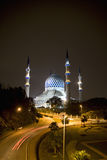 Sultan Salahuddin Abdul Aziz Shah Mosque. Night image of Sultan Salahuddin Abdul Aziz Shah Mosque or commonly known as the Blue Mosque, located at Shah Alam Stock Images