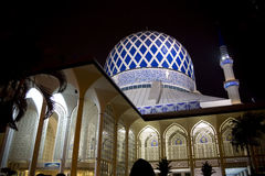 Sultan Salahuddin Abdul Aziz Shah Mosque. Night image of Sultan Salahuddin Abdul Aziz Shah Mosque or commonly known as the Blue Mosque, located at Shah Alam Stock Photography