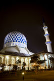 Sultan Salahuddin Abdul Aziz Shah Mosque. Night image of Sultan Salahuddin Abdul Aziz Shah Mosque or commonly known as the Blue Mosque, located at Shah Alam Stock Photo