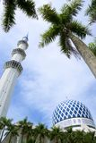 The Sultan Salahuddin Abdul Aziz Shah Mosque. Is the state mosque of Selangor, Malaysia. It is located in Shah Alam. It is the country's largest mosque and Royalty Free Stock Photo