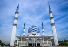 The Sultan Salahuddin Abdul Aziz Shah Mosque. In Shah Alam Selangor. It's also known as Masjid Biru or Blue Mosque Stock Image