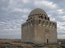 Sultan Sanjar mausoleum. Twelfth-century mausoleum of Seljuk ruler Ahmad Sanjar (1118 - 57) at the center of the ruined ancient city of Sultan Kala, Merv Oasis Stock Image