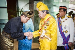 Sultan of Selangor shaking hand with his citizen Royalty Free Stock Photo