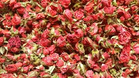 Sultan tea or rose tea sold in spice market at Turkey. Royalty Free Stock Photo