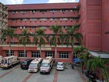 Sultanahen Aminah Hospital i Johor Bahru arkivbilder