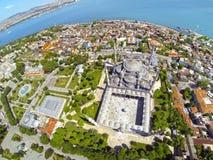 Sultanahmet广场和蓝色清真寺 免版税库存图片