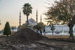 Sultanahmet或蓝色清真寺,伊斯坦布尔,土耳其 图库摄影