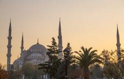 Sultanahmet或蓝色清真寺,伊斯坦布尔,土耳其 库存图片