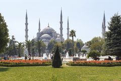 Sultanahmet清真寺蓝色清真寺,伊斯坦布尔 免版税库存图片