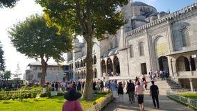 Sultanahmet清真寺(蓝色清真寺)在伊斯坦布尔 免版税图库摄影