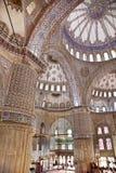 Sultanahmet蓝色清真寺内部-圆顶 免版税库存照片