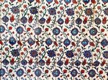 Sultanahmet蓝色清真寺内部-瓦片 免版税库存图片