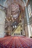 Sultanahmet蓝色清真寺内部 库存照片