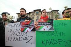 Sultanahmet攻击的抗议 免版税库存图片