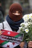 Sultanahmet攻击的抗议 库存图片