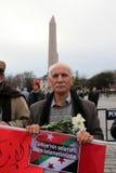 Sultanahmet攻击的抗议 库存照片
