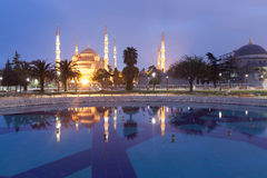 Sultanahmet Blue Mosque at dusk Stock Photo
