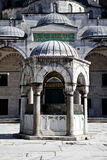 Sultanahmet Blue Mosque - inner court. Sultanahmet Mosque (Ottoman Imperial mosque) interior ornate architecture in Istanbul, Turkey Royalty Free Stock Photo