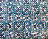 Sultanahmet Blue Mosque interior - tiles. Sultanahmet Mosque (Ottoman Imperial mosque) interior ornate architecture in Istanbul, Turkey Stock Image