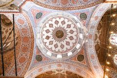 Sultanahmet Blue Mosque in Istanbul, Turkey. ISTANBUL, TURKEY - JULY 29, 2018: Dome of Sultanahmet Blue Mosque in Istanbul City stock images